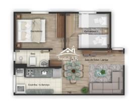 Apartamento com 2 dormitórios à venda, 53 m² por R$ 166.000,00 - Tanguá - Almirante Tamand