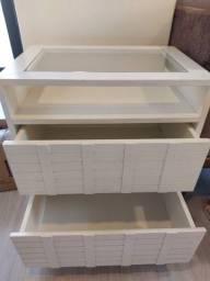 Mesa de cabeceira/ Criado mudo com 2 gavetas