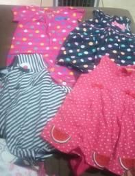 Lote menina p 3 vestidos