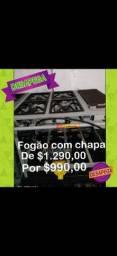 FOGÃO COM CHAPA