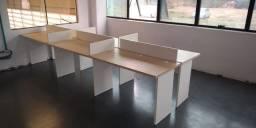 Estação de trabalho seminova com 2,4,6,8 ou mais posições