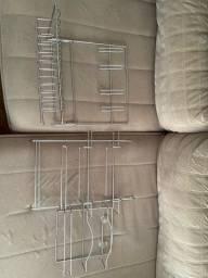Escorredor de prato e porta-papel alumínio e toalha