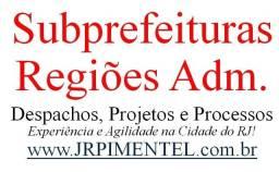 Subprefeituras e Regiões Adm na Cidade Rio de Janeiro GLF, DLF etc Processos e Serviços