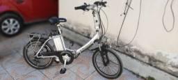 Bike bicicleta elétrica dobravel com marcha com nota fiscal e manual
