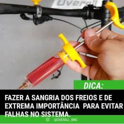 Sangria de freios em bicicletas