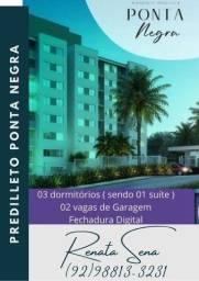 (**) Predilleto Ponta Negra Apto com Padrão Moderno com 03 dormitórios Suíte e Varanda(**)