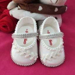 Sapatinho Infantil Personalizado, Ninas Baby Luxo N14