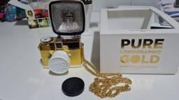 Linda mini câmera dourada Diana Forev