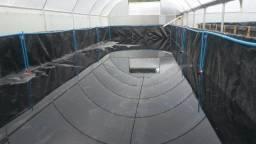 Tanque 137,5 m3 Geomembrana Com Mourao E Estrutura Metálica