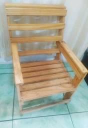 Banco Cadeira infantil de madeira