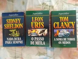 Livros Usados SuperSellers - Sidney Sheldon, Leon Uris, Tom Clancy