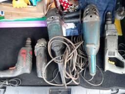 Furadeiras e lixadeiras, máquinas.