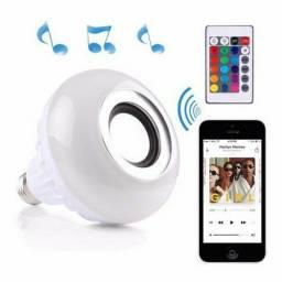 Lampada Bluetooth De Led Caixa De Som Com Controle Rgb 12W musica