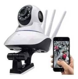 Câmera Robô IP 360º Visão Noturna Wi-Fi Monitoramento a Distância