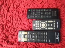 Controles de som LG, Sony e Philips