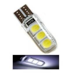 Lampada T10 6 Led Siliconada Branca 5050 Unidade