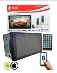 Central Multimidia 2 Din Mp5 Cinoy Com Espelhamento Touch Bt