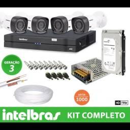 Câmeras de segurança Intelbras, instalação