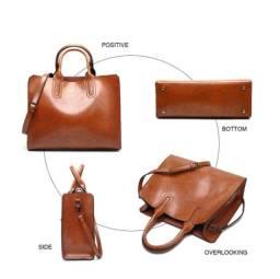 Bolsas Valenkuci de couro feminina alta qualidade, casual