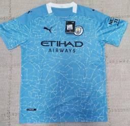 Camisa Manchester City 20/21 Tai 1.1 a Pronta Entrega