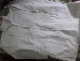 Jaleco  branco- tamanho (M)