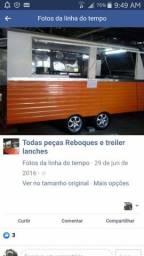 Fábrica  de treiler  reboque de lanches em Porto alegre carrinho de cachorro quente