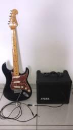Guitarra Tagima Stratocaster Woodstock Series 530 - e Amplificador Steel GT40