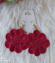 Brinco de Crochê Flor