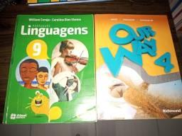 Livro do Colégio interativa - Português e Inglês.