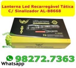 Lanterna Led Recarregavel C/ Sinalizador AL-B8668