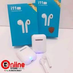 Fone De Ouvido Bluetooth Com Touch i11 Tws para Iphone e Android