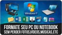 Formatação em Computadores e Notebooks R$ 50,00