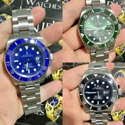 Relogio Rolex automatico prata varias cores