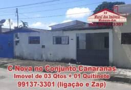 Desocupado na Cidade Nova no Conjunto Canaranas de 03 Quartos