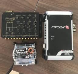 Módulo amplificador Stetsom EX 1200eq + Módulo VS400 4x100 + Crossover STX84