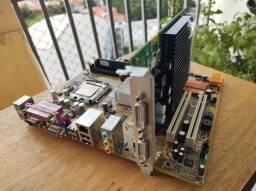 Placa mãe, processador, memória, HD e placa de video