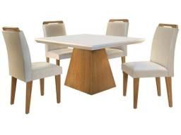 Mesa de Jantar 4 Cadeiras Retangular Rufato - Luna Athenas