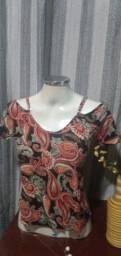 Título do anúncio: Blusa Ciganinha Viscose Estampado - Tam. M