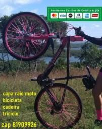 capa para raio bike rosa