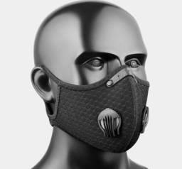 Máscara Com Válvulas + 3 Filtros Extras De Carvão Ativado
