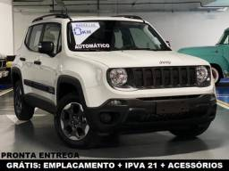Jeep Renegade Automático 0KM Pronta Entrega Emplacamento, IPVA 2021 e Acessórios Grátis