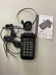 Headset Zox TZ-20 Para Telemarketing