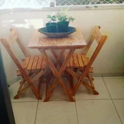 Jogo de Mesa Dobrável com Cadeiras *Frete Grátis