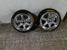 Rodas te37 17 tala 8 pneus novos