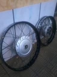 Conjunto de rodas da Biz completa