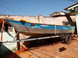 Vendo barco aluminio 5mts borda alta