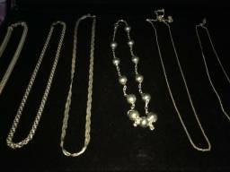 Vendo lindos cordões de prata barato 27 996878120 de 30 ha 70 variam os preços