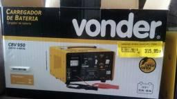 Carregador de bateria Vonder 12 volts semi novo