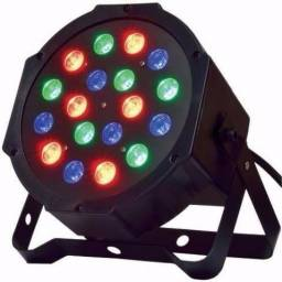 Refletor Led 64 RGB 18 Leds