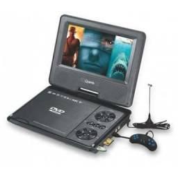 (987853543)DVD Portatil Com Tv Fm E Video Game Articulado Com USB, Sd E Controle